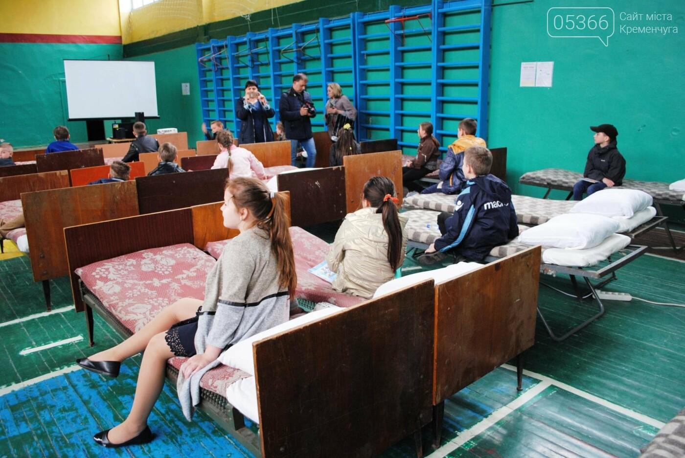 Масштабные учения подразделений ГСЧС в Кременчуге