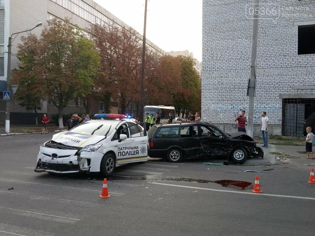 В центре Кременчуга машина патрульной полиции врезалась в Фольксваген. Трое пострадавших (ФОТО), фото-5
