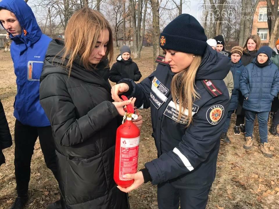 Школьники из села Потоки проходили практику тушения пожара, фото-2