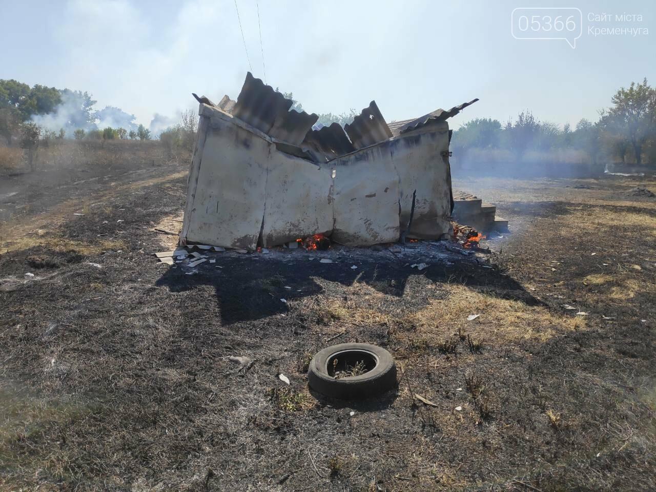 У Кременчуцькому районі пожежники знову гасили два гектари сухостою, фото-3