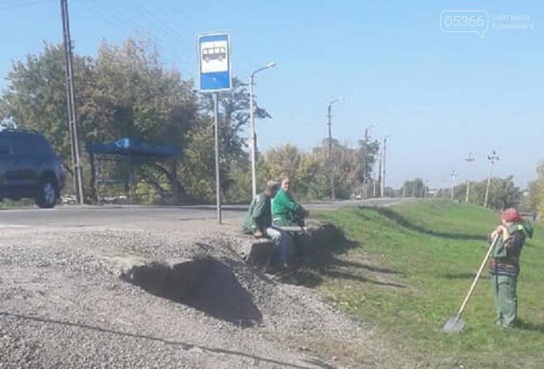 Дочекалися, домітингувалися: на Ревівці розпочалось будівництво зупинки біля школи №2. Відео, фото-3