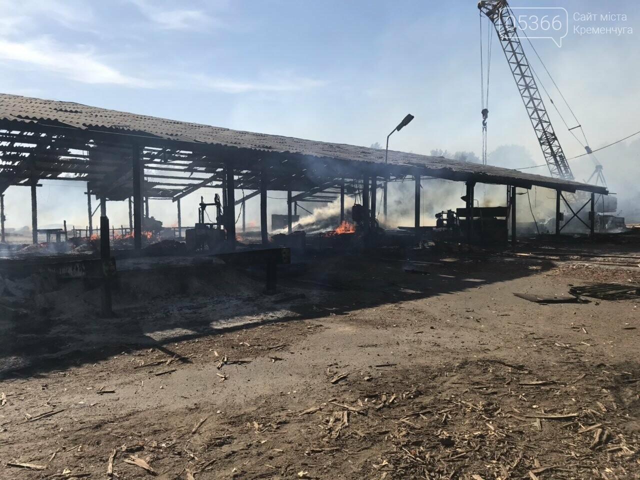 У Кременчуцькому районі вогонь знищив базу з переробки лісоматеріалів. Фото, фото-4