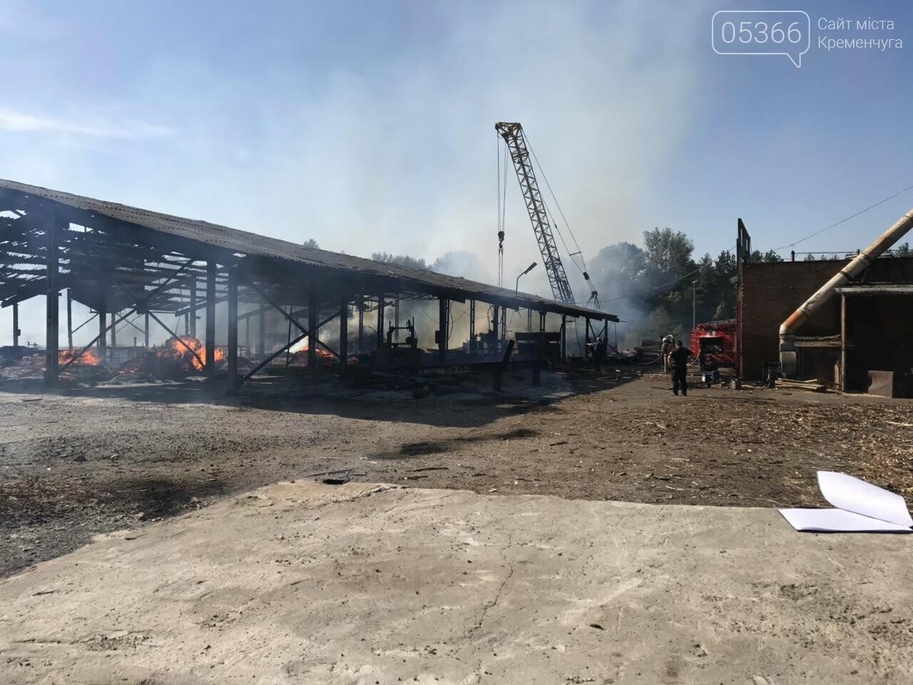 У Кременчуцькому районі вогонь знищив базу з переробки лісоматеріалів. Фото, фото-1