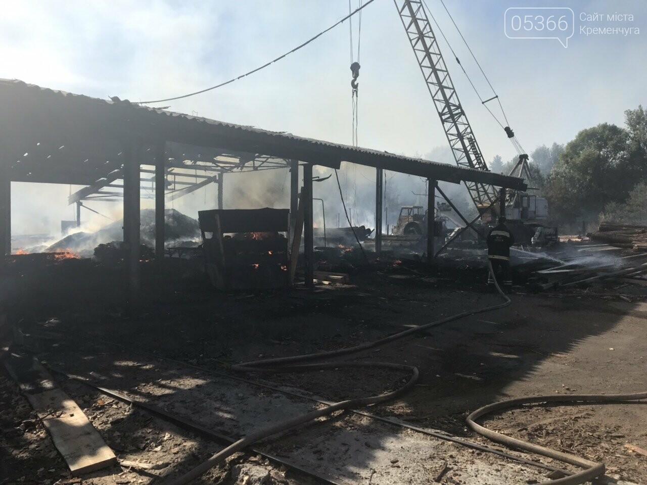 У Кременчуцькому районі вогонь знищив базу з переробки лісоматеріалів. Фото, фото-6