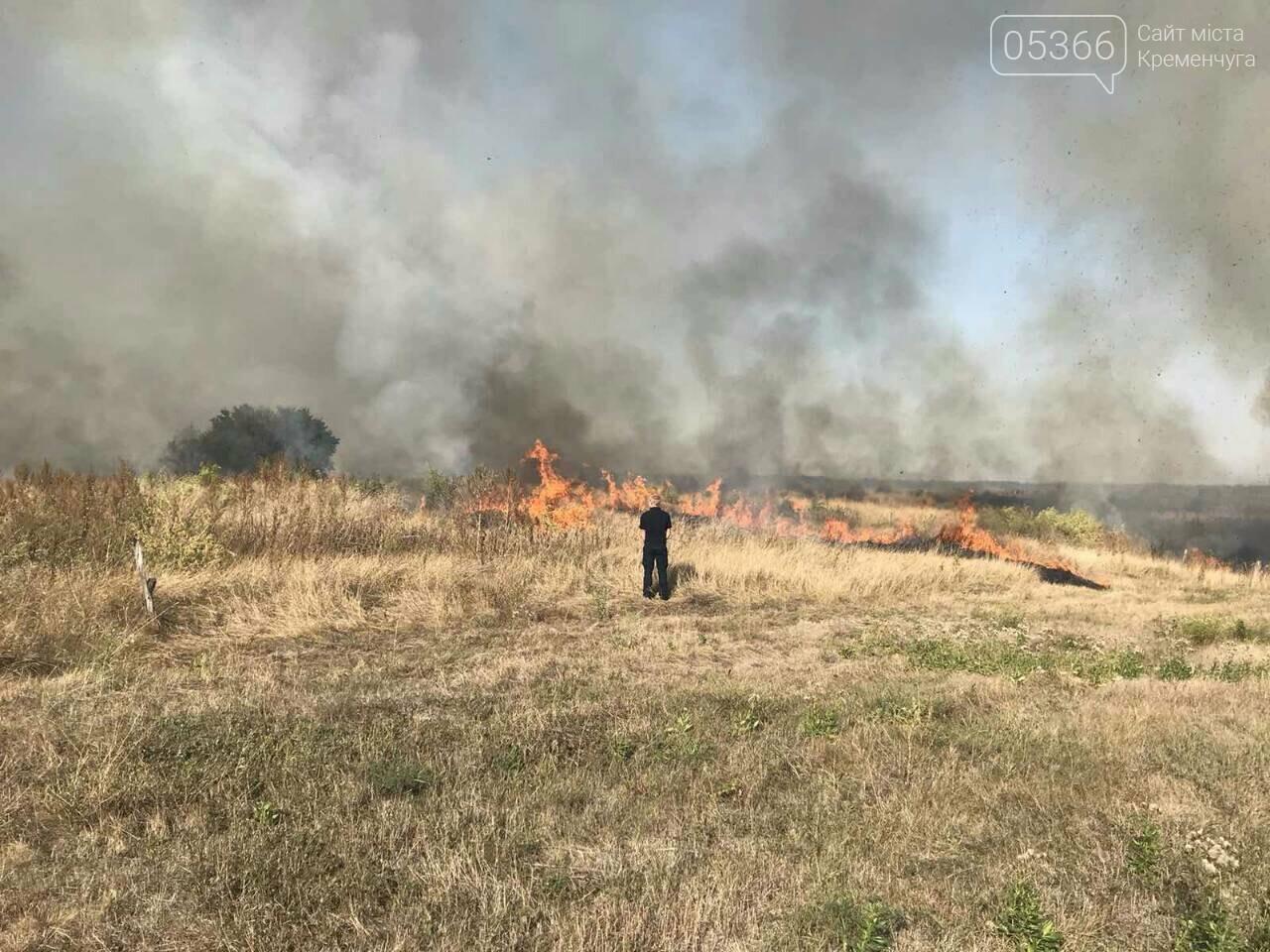 У Кременчуцькому районі горіло 43 гектари сухої рослинності: рятувальники виявили труп, фото-6