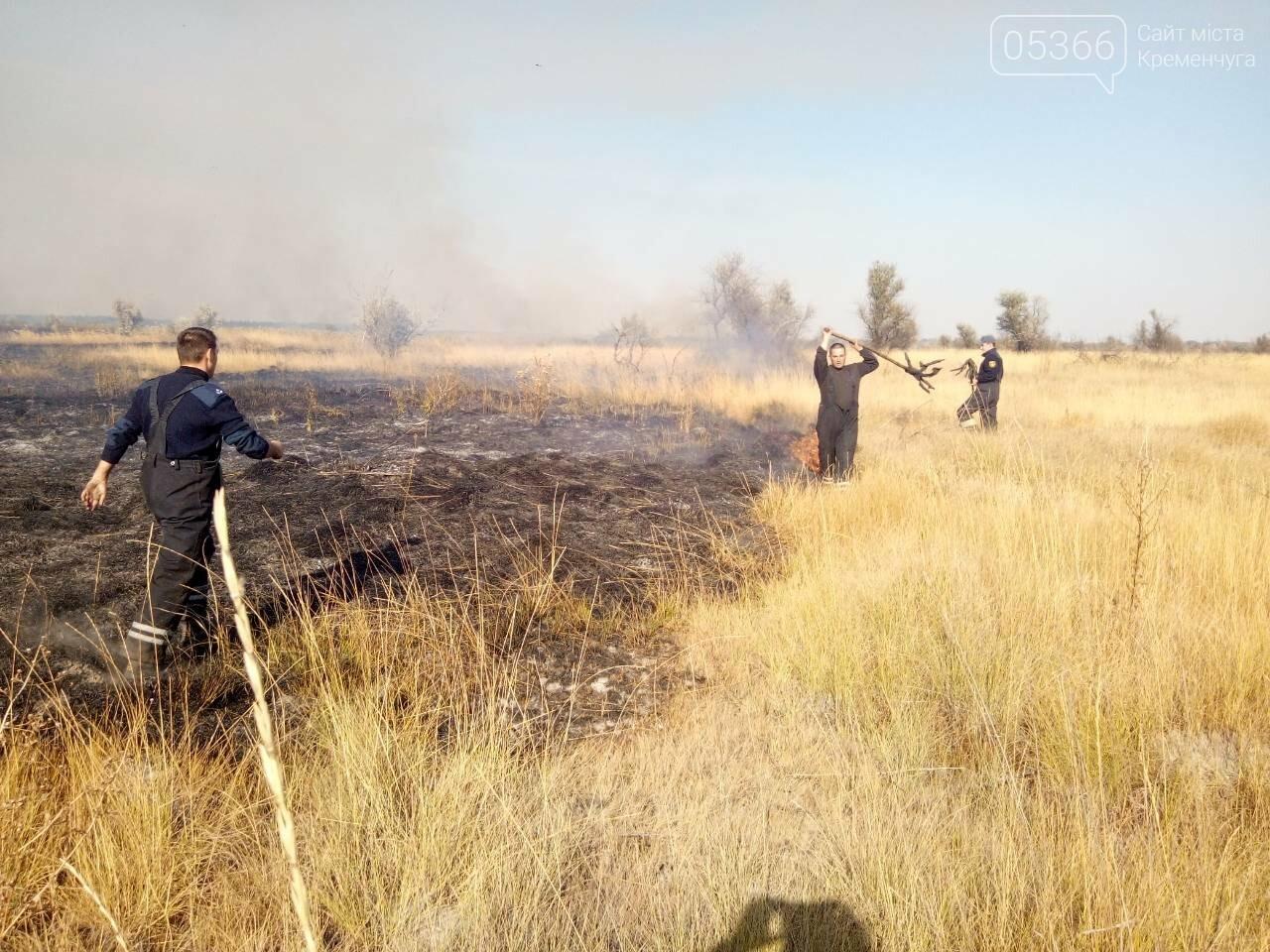 У Кременчуцькому районі горіло 43 гектари сухої рослинності: рятувальники виявили труп, фото-5