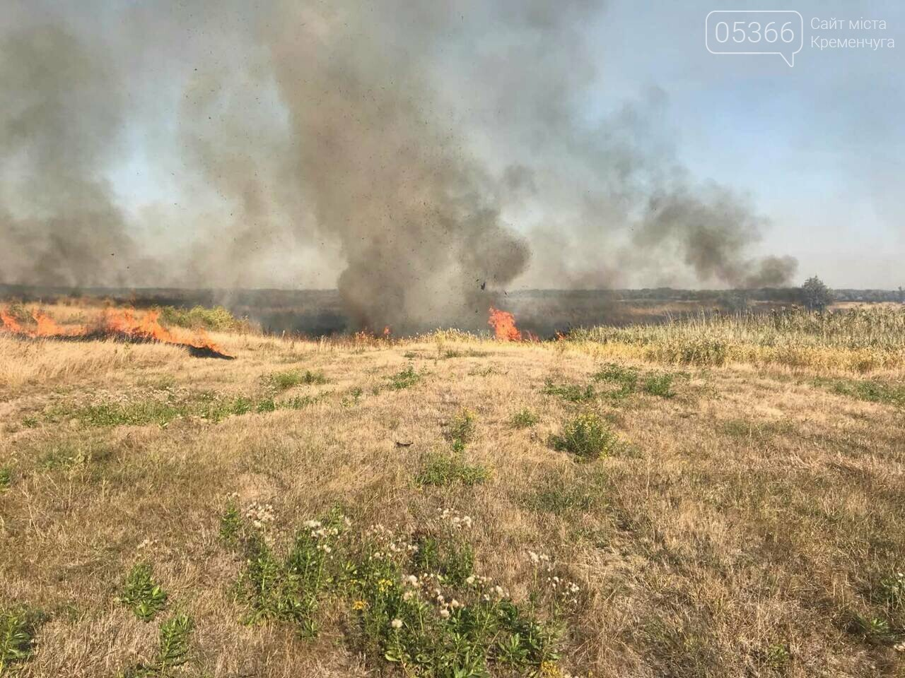 У Кременчуцькому районі горіло 43 гектари сухої рослинності: рятувальники виявили труп, фото-4