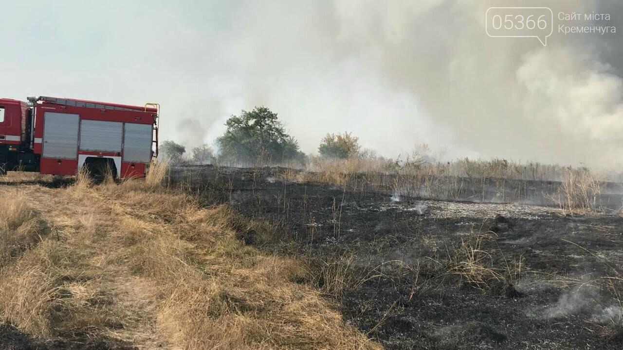 У Кременчуцькому районі горіло 43 гектари сухої рослинності: рятувальники виявили труп, фото-8