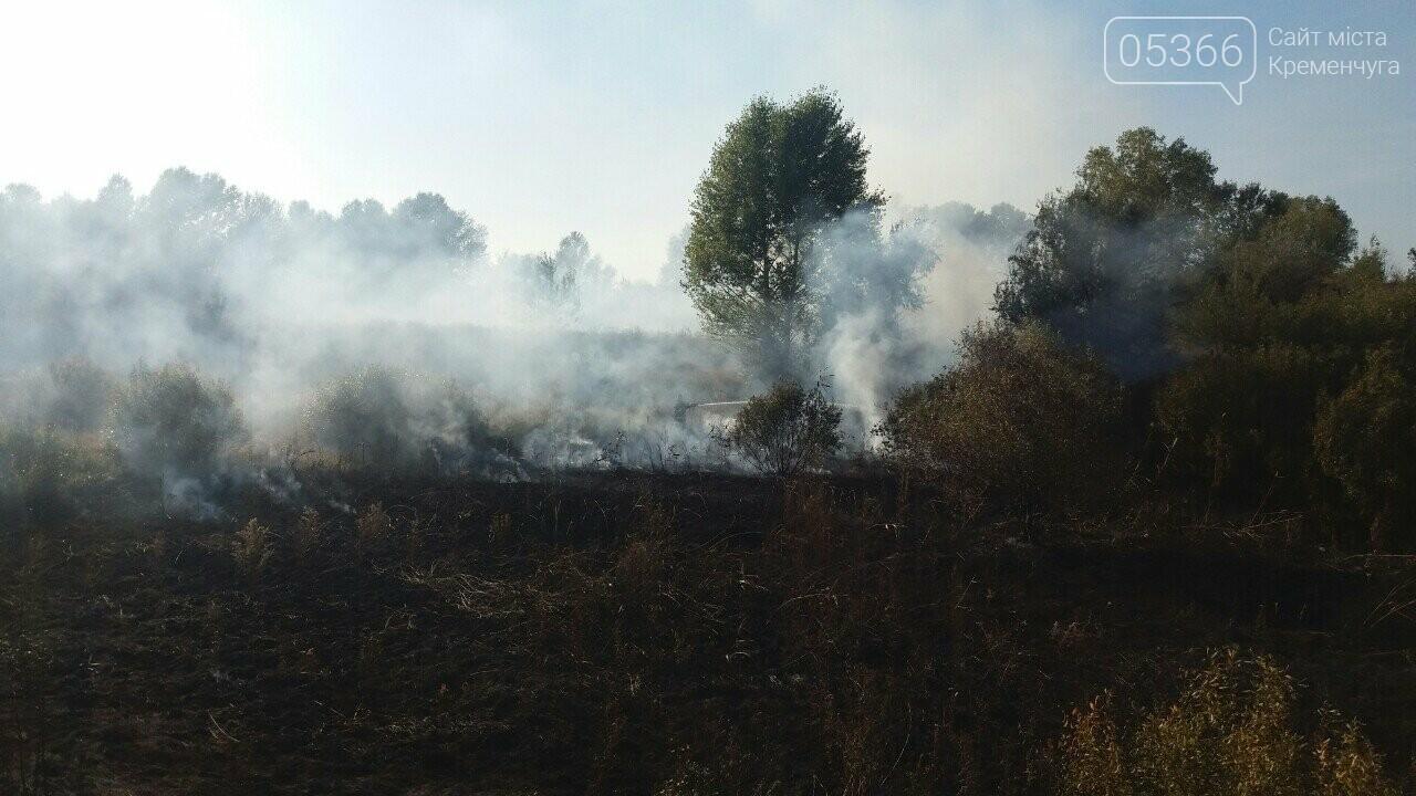 У Кременчуцькому районі горіло 43 гектари сухої рослинності: рятувальники виявили труп, фото-1
