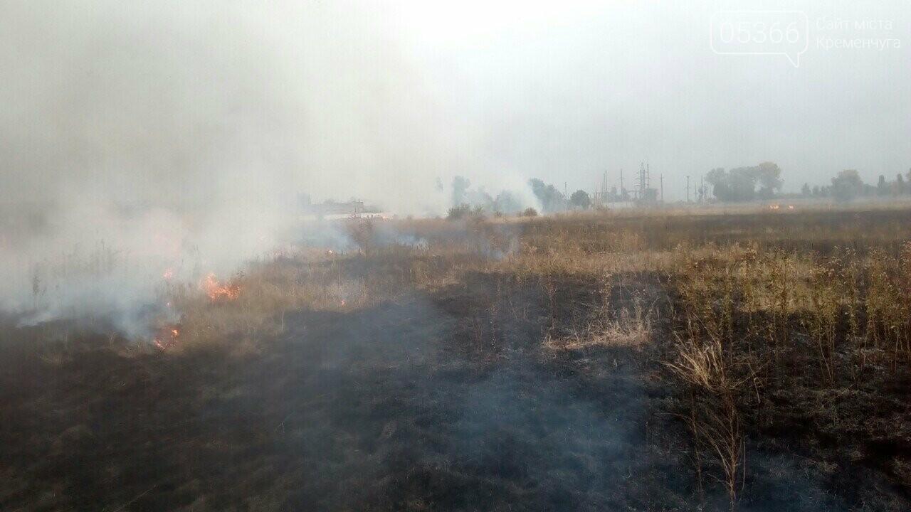У Кременчуцькому районі знову горить суха рослинність. Фото, фото-2