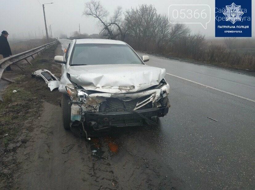 Біля Кременчука водій врізався у дорожній відбійник, фото-2