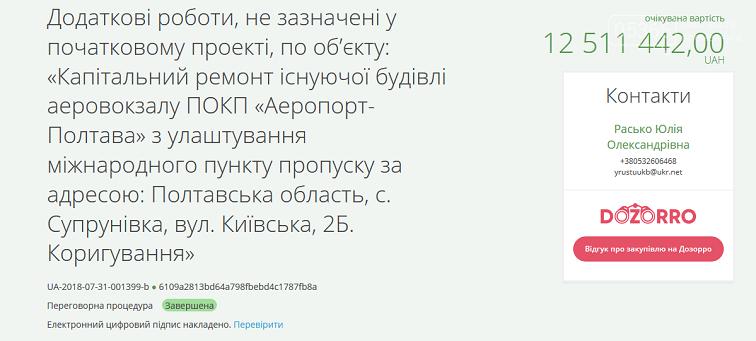"""Директора компанії, що ремонтувала аеропорт """"Полтава"""", підозрюють у привласненні бюджетних коштів, фото-3"""