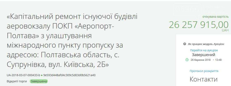 """Директора компанії, що ремонтувала аеропорт """"Полтава"""", підозрюють у привласненні бюджетних коштів, фото-1"""