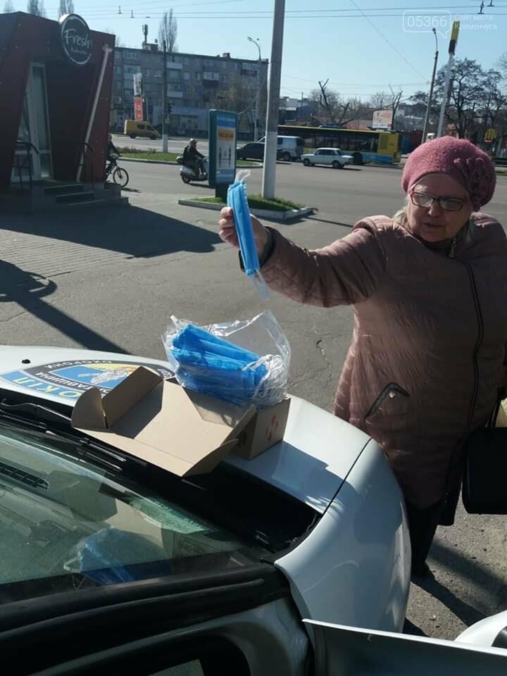 У Кременчуці охоронна агенція «Сокіл Гарант» роздає маски громадянам безкоштовно, фото-7