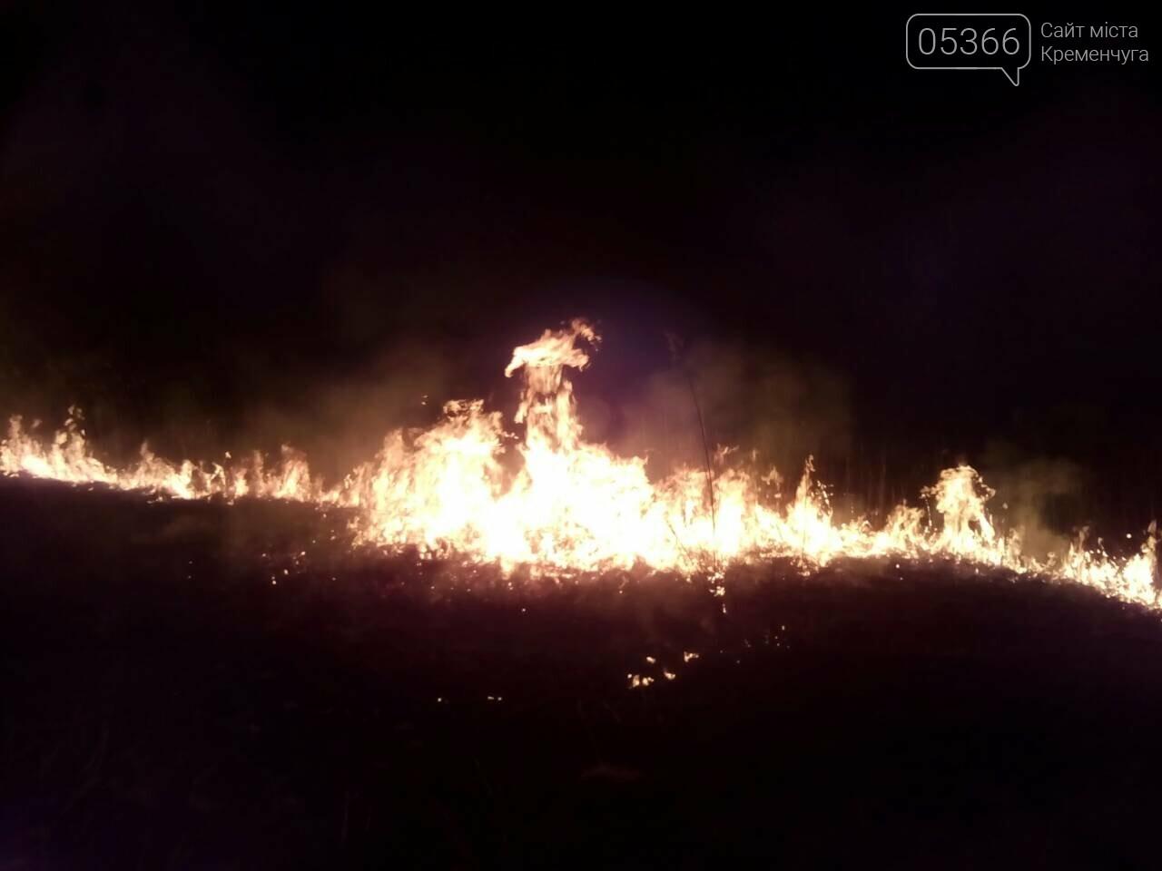 У Кременчуцькому районі вигоріло п'ять гектарів сухої трави, фото-1