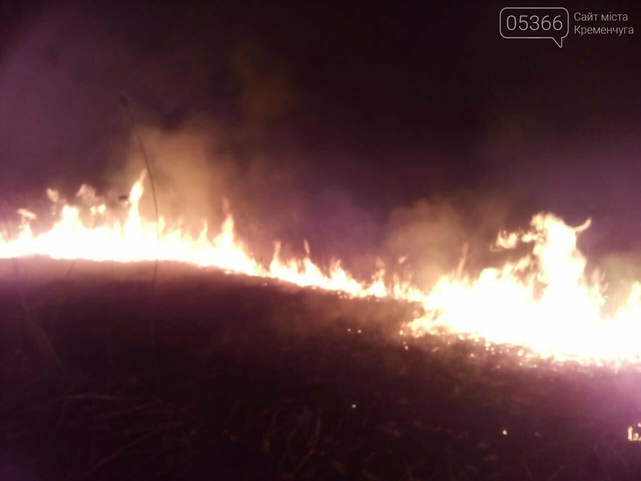У Кременчуцькому районі вигоріло п'ять гектарів сухої трави, фото-3