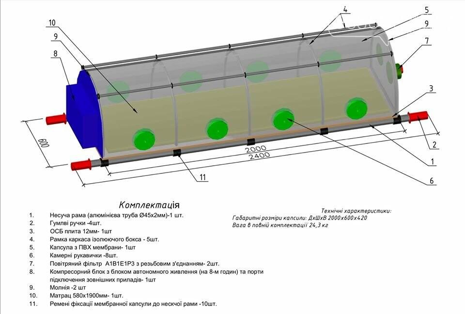 Кременчужани виготовили капсулу для транспортування хворих на COVID-19. Фото. Відео, фото-3