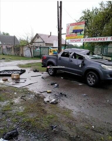 У Кременчуці неподалік АЗС перекинулася автівка , фото-1