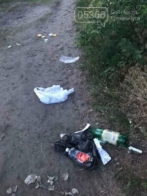 На артскладах купа сміття після відпочивальників: кременчужани скаржаться на бруд. Фото , фото-2