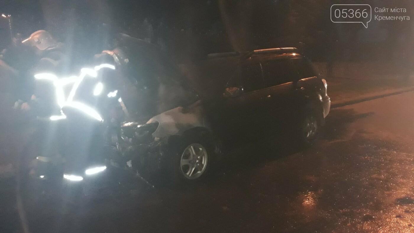 """У Кременчуці горіла припаркована іномарка """"Mitsubishi"""", фото-1"""