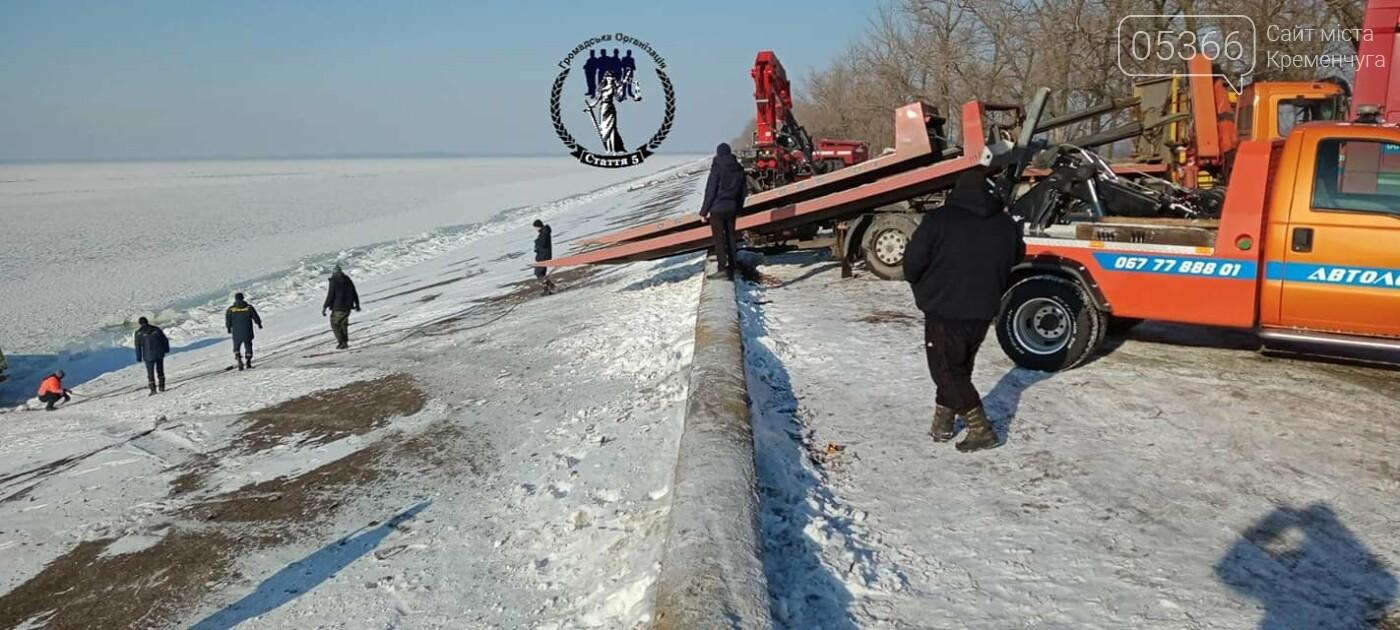 Біля Власівки вантажівка з'їхала у водосховище, фото-3