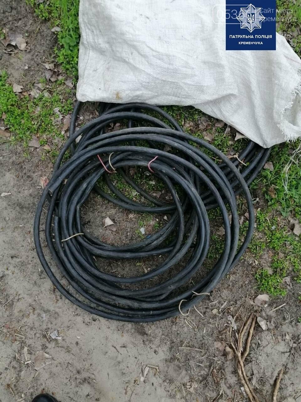 У Кременчуці патрульні зупинили чоловіка з комунікаційними кабелями, фото-1