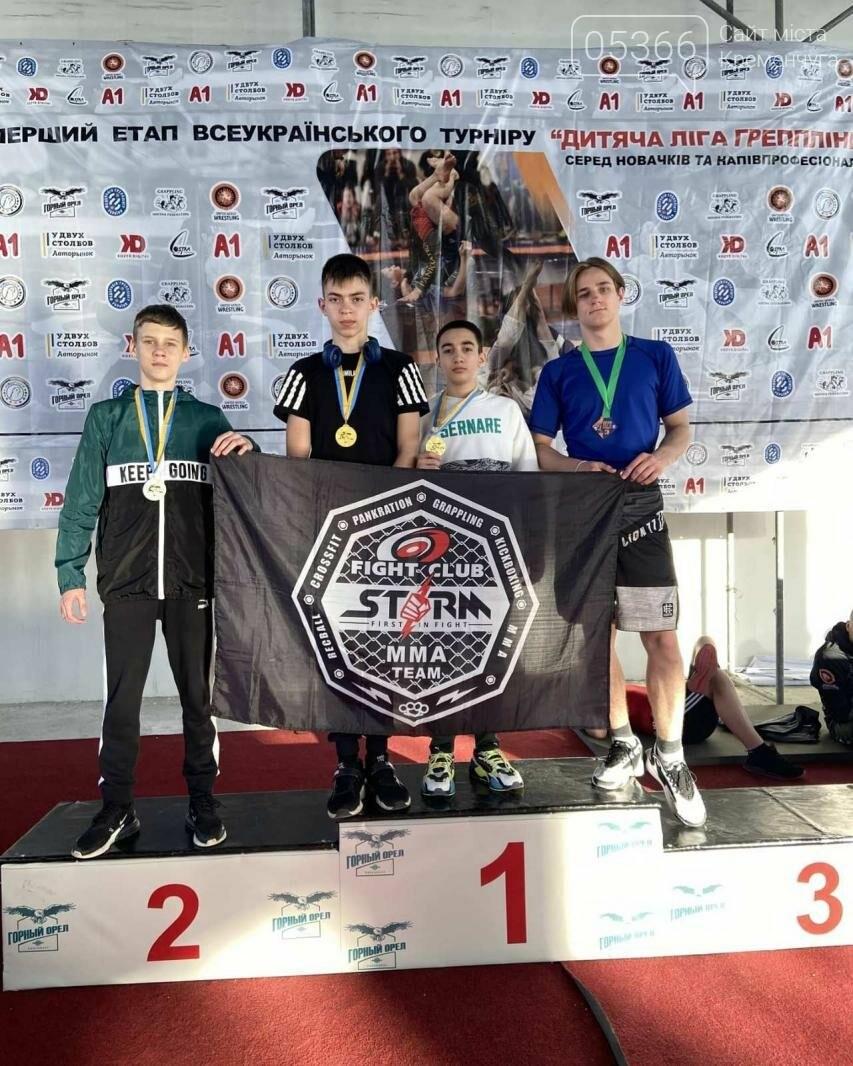 На всеукраїнському турнірі «Дитяча ліга грепплінгу» кременчужани здобули перші місця, фото-1
