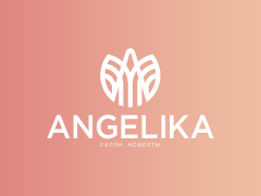 Логотип - Анжелика, салон красоты, школа косметологии в Кременчуге