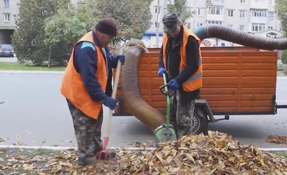 9 тисяч кубічних метрів опалого листя прибрали комунальники з вулиць Кременчука (Фото), фото-1