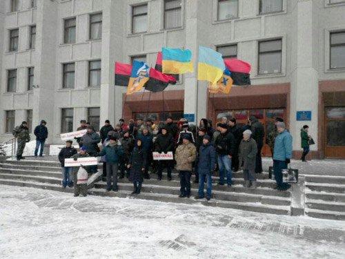 Кременчужане помитинговали в Полтаве под СБУ и ОГА (ФОТО), фото-4