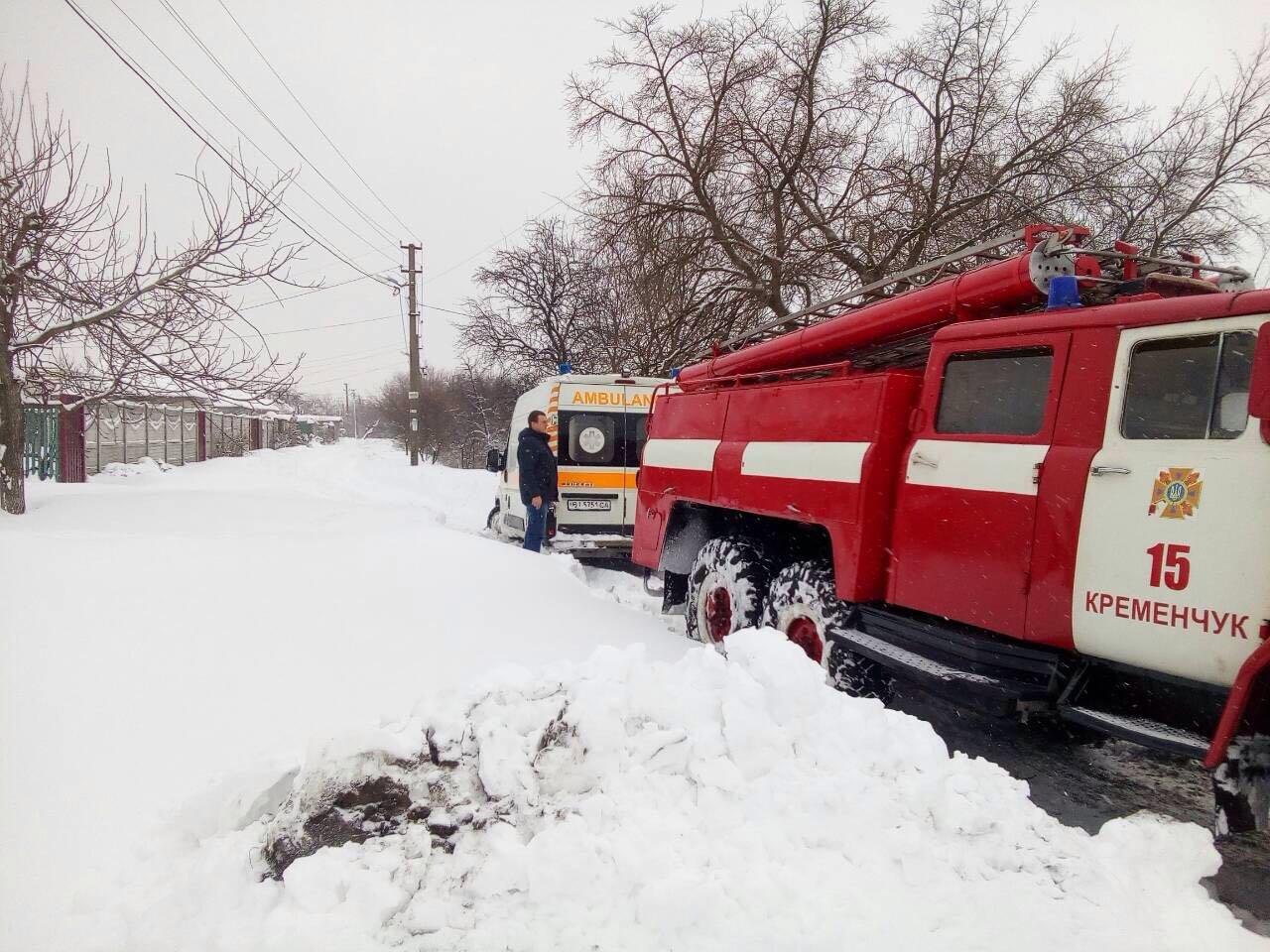 Снег в Кременчуге и районе