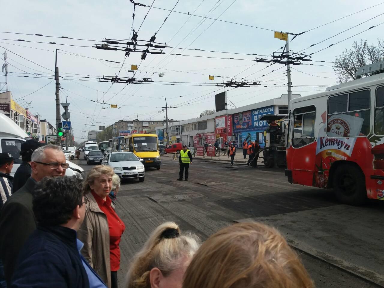 пробки в центре Кременчуга