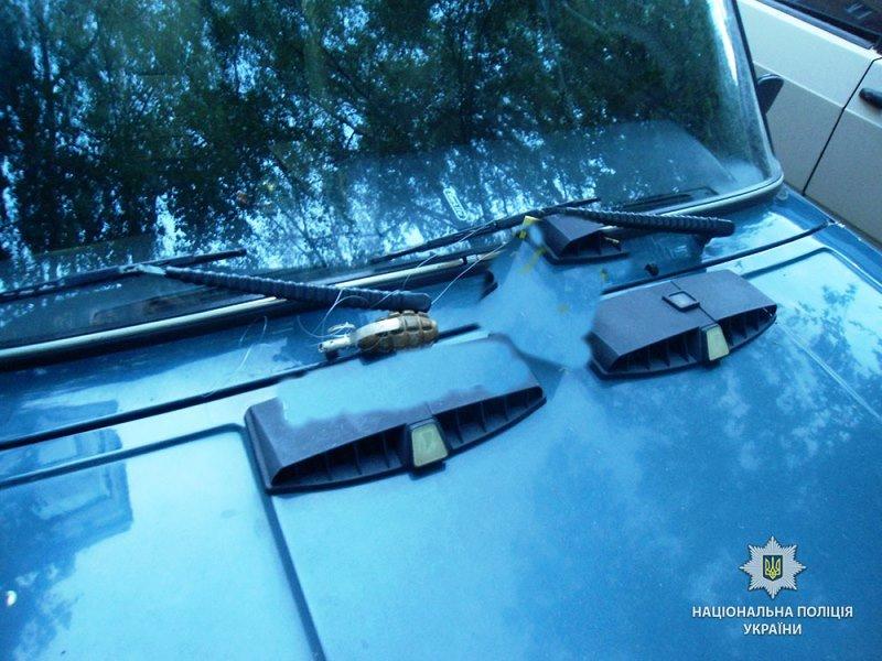 граната на машине