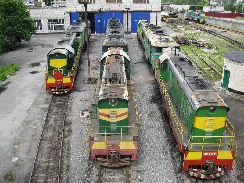 локомотивное депо Кременчук