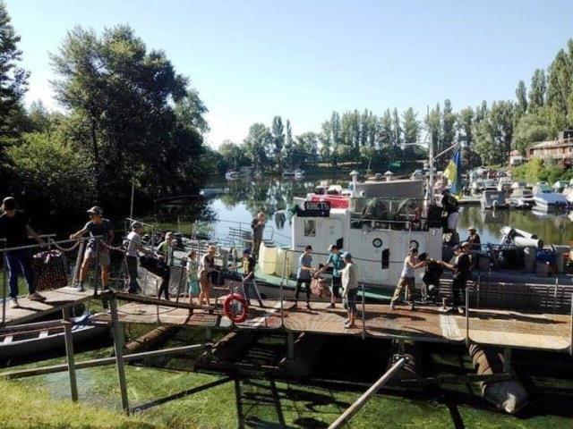 Сто кременчуцьких юнг пройшли річкову практику на Дніпрі (фото), фото-1