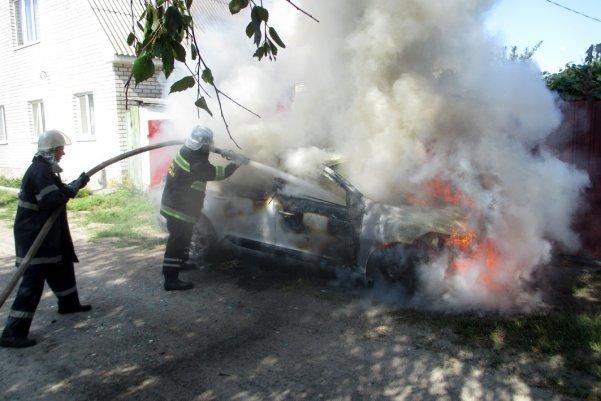 У Кременчуці палав Renault Megane (фото), фото-1