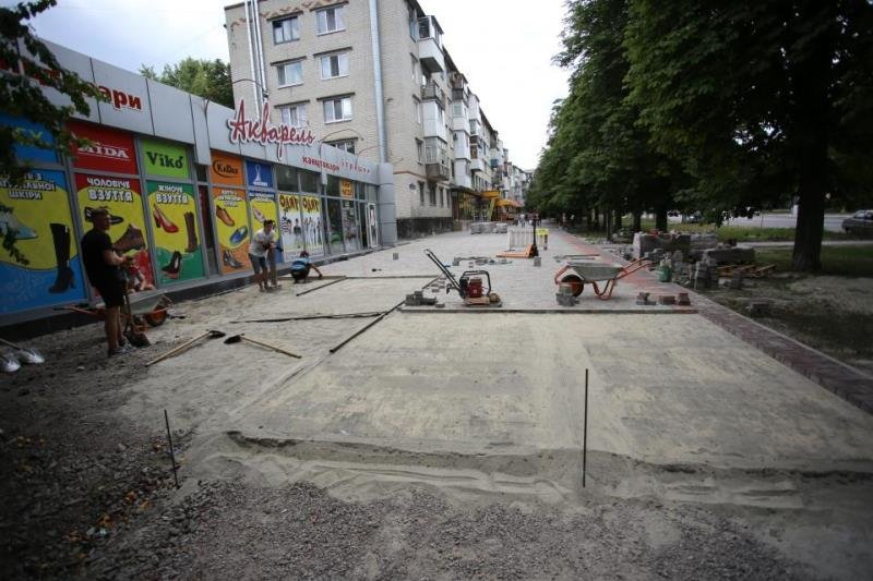 ремонт тротуаров в Кременчуге
