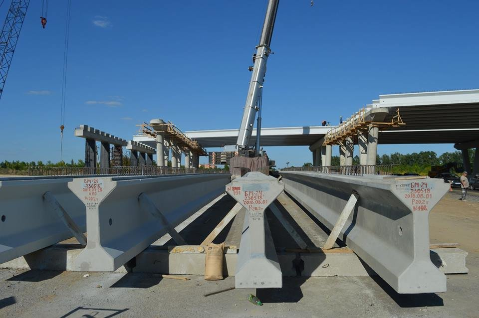 строительство развязки на М-22