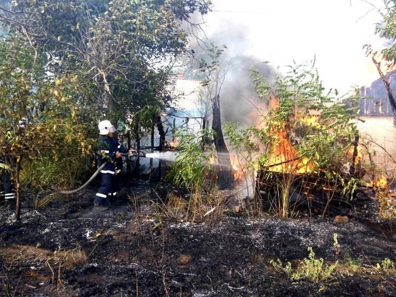 пожар в Крамаренках