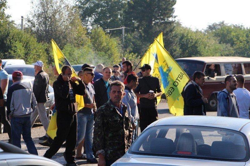 митинг перекрытие дороги