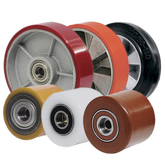 Алюминиево-полиуретановые колеса и ролики, фото-1